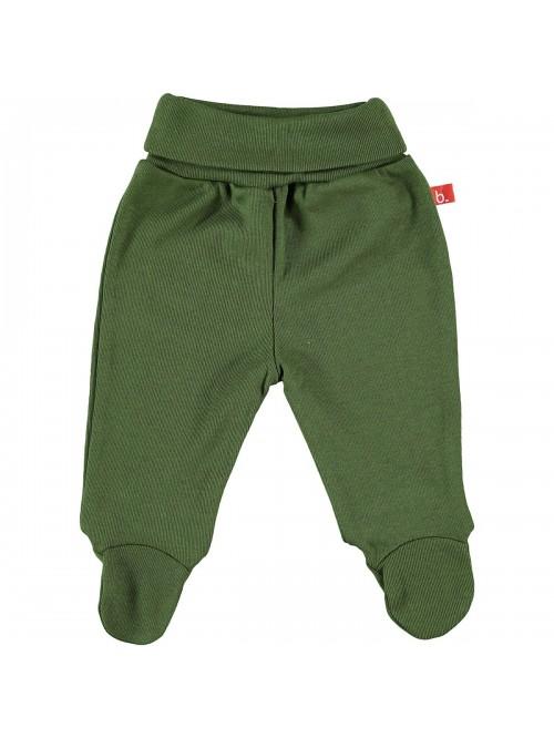 Pantaloni con piedini verde oliva