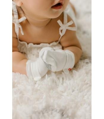Guantini rombi panna per neonati prematuri. Spedizione Gratis!