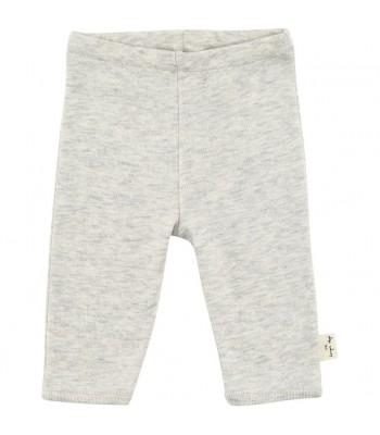 Pantaloni grigio chiaro melange per prematuro