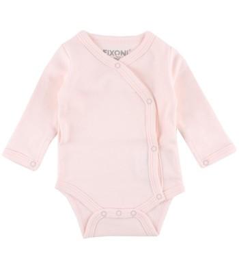 Body maniche lunghe rosa per prematuro (Fronte)