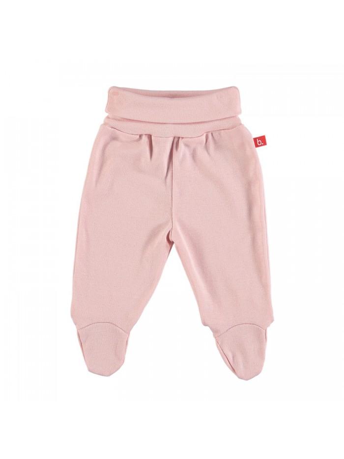 Pantaloni con piedini rosa pastello per prematura