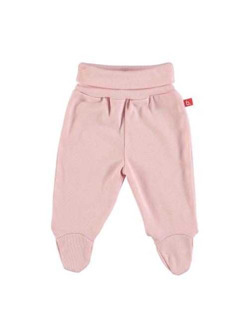 Pantaloni con piedini rosa pastello