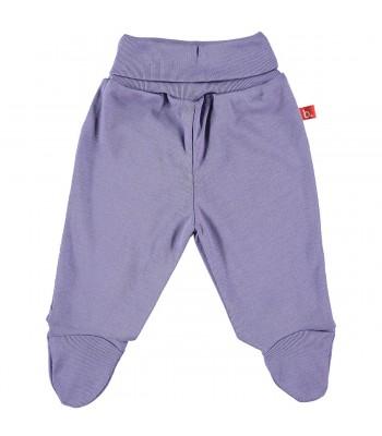 Pantaloni con piedini lilla per prematura