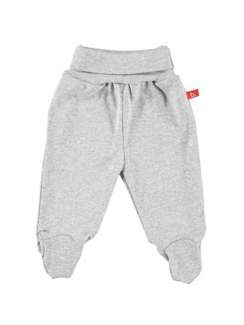 Pantaloni con piedini grigio melange