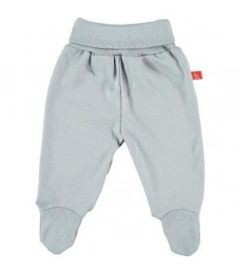 Pantaloni con piedini grigi