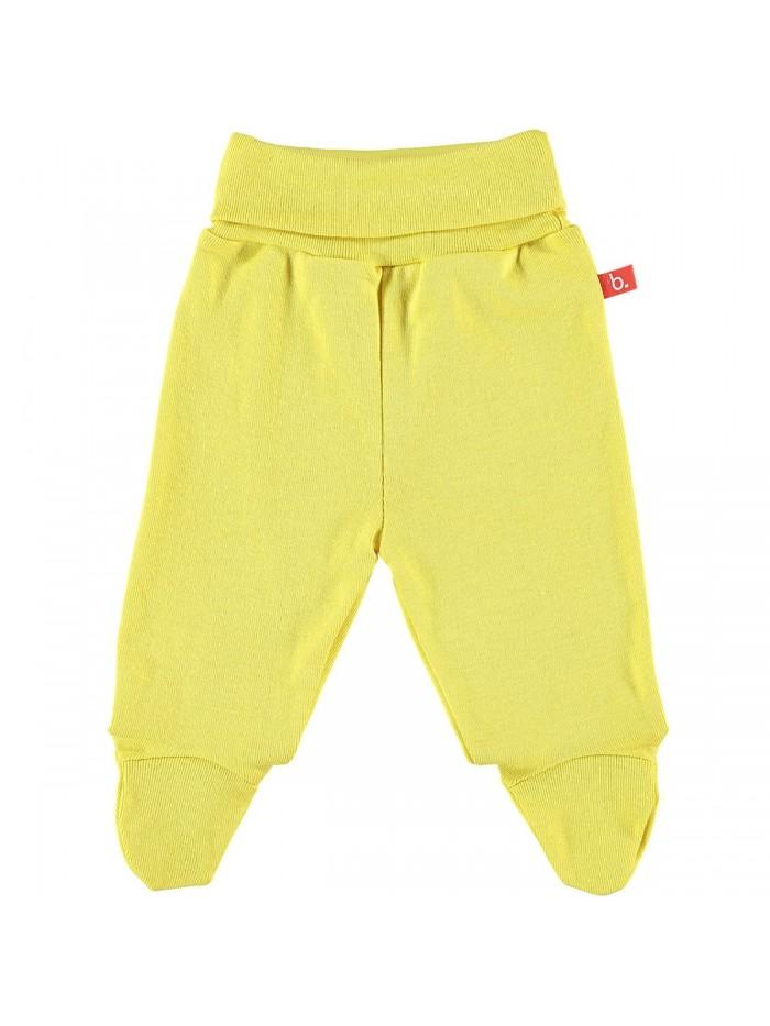 Pantaloni con piedini giallo mostarda per prematuro