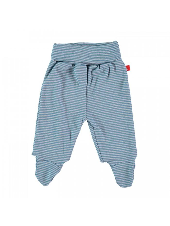 Pantaloni con piedini a righe denim per prematuro