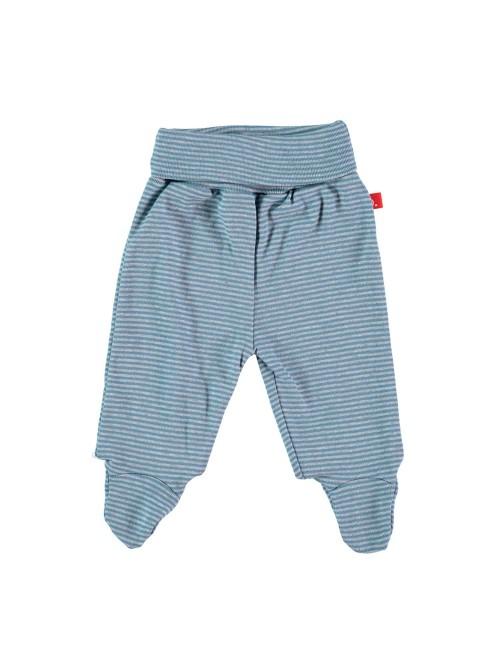 Pantaloni con piedini a righe denim