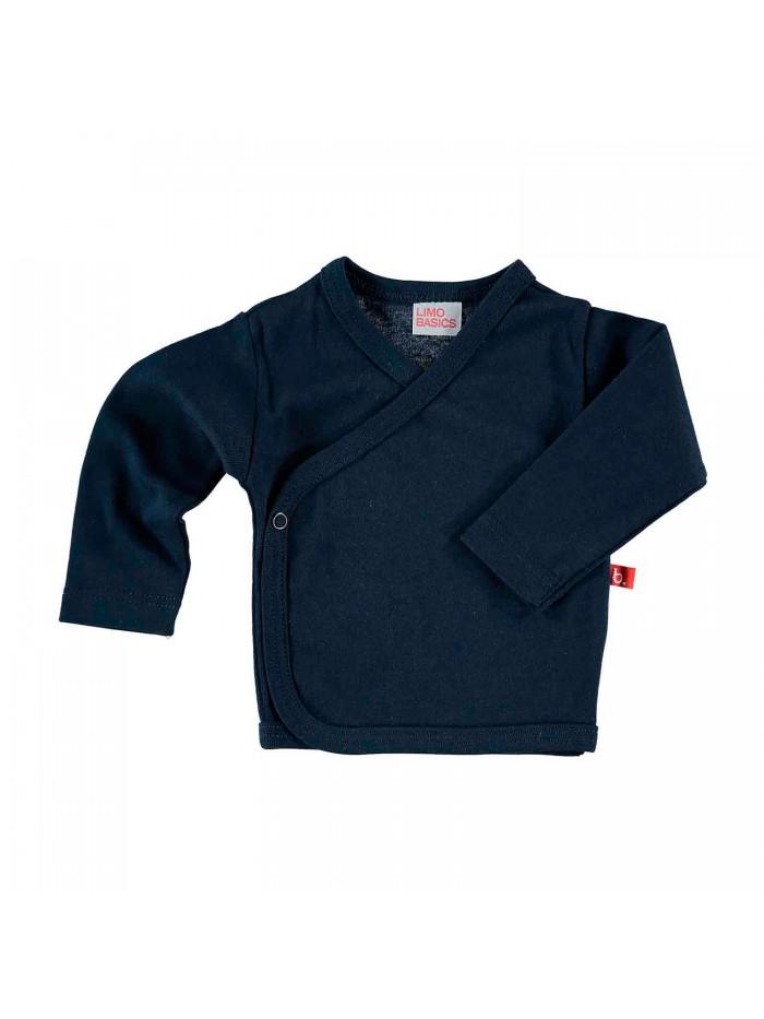 Maglietta kimono blu per prematuro