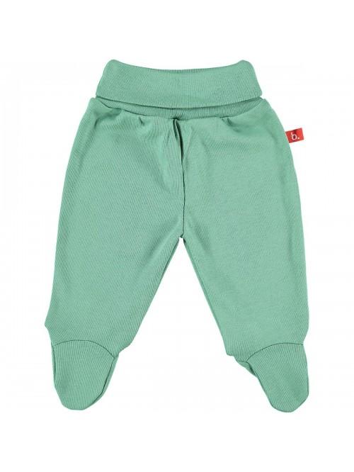 Pantaloni con piedini verde muschio