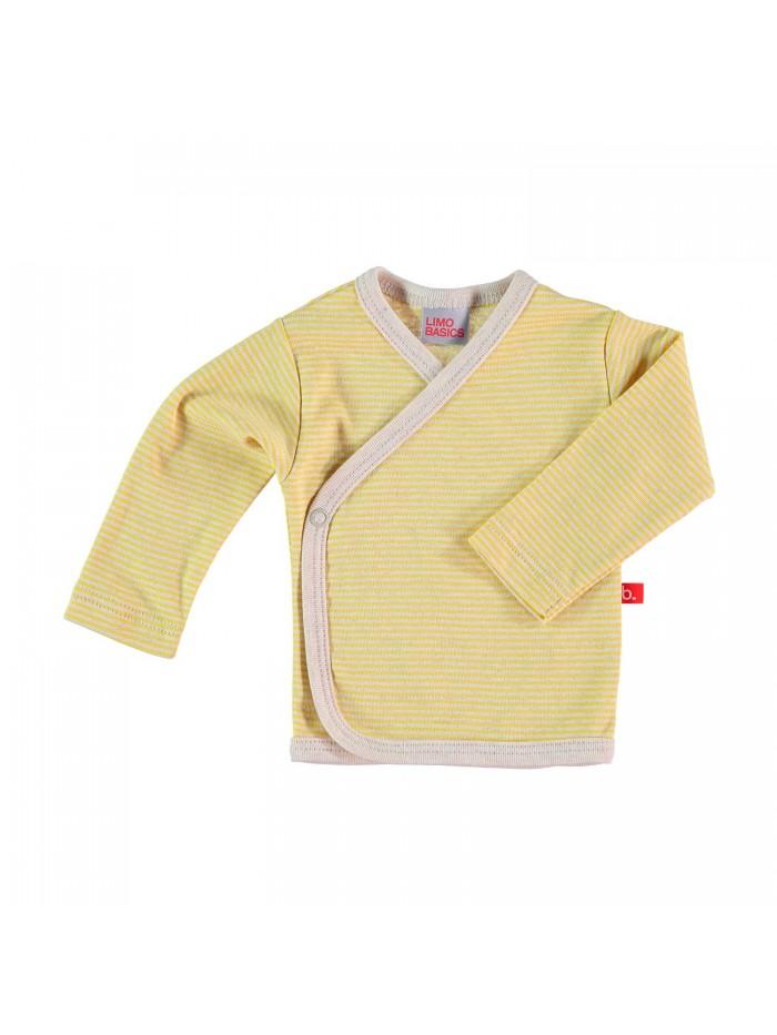 Maglietta kimono a righe mostarda per prematuro