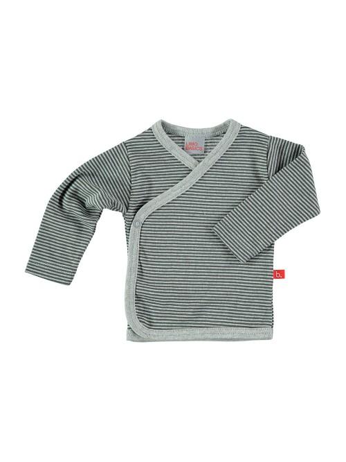 Maglietta kimono a righe grigio
