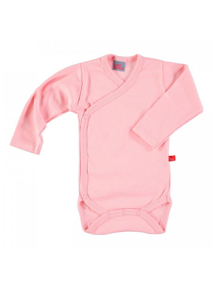Body maniche lunghe rosa pastello per prematura