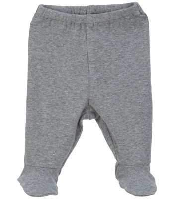 Pantaloni con piedini grigio scuro per prematuro