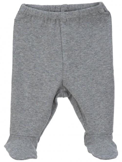 Pantaloni con piedini grigio scuro