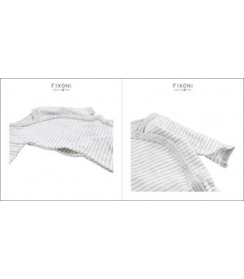 Tutina bianco/grigio in cotone bio per prematuri. Spedizione Gratis!