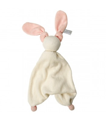 Doudou Hoppa Floppy bianco/rosa
