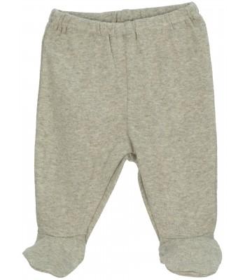 Pantaloni con piedini verde salvia per prematuro