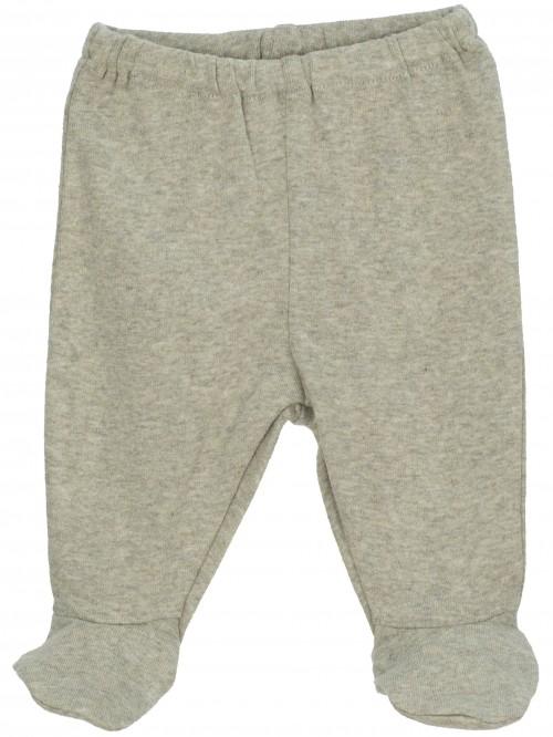 Pantaloni con piedini verde salvia