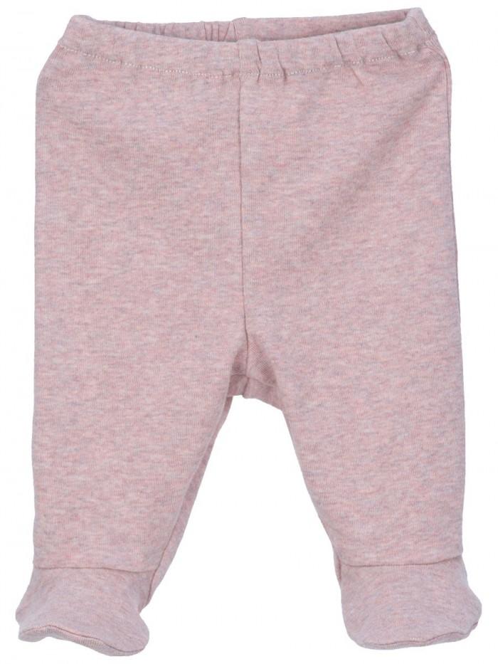 Pantaloni con piedini rosa cipria per prematuro