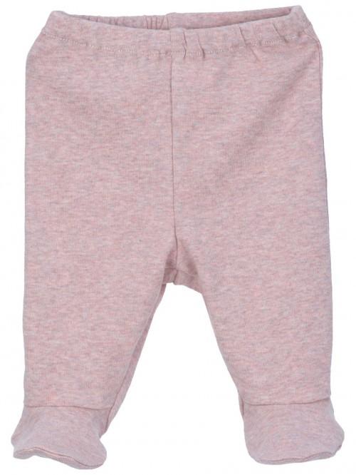 Pantaloni con piedini rosa cipria