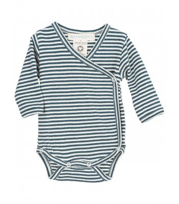 Body maniche lunghe righe blu atlantic/panna