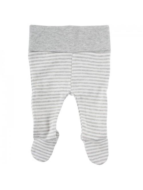 Pantaloni con piedini a righe bianco/grigio