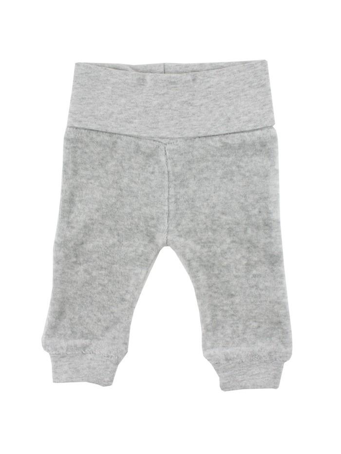 Pantaloni in velluto grigio per prematuro (Fronte)